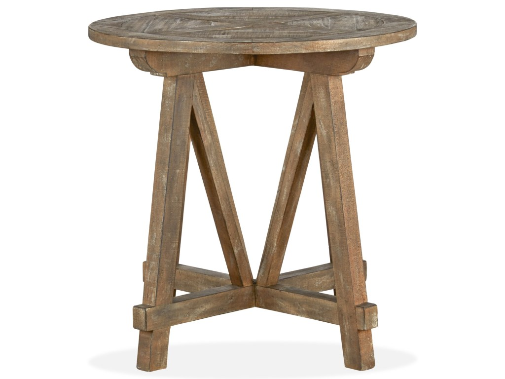 magnussen home bluff heights rustic round accent table with products color threshold heightsround best bedroom furniture entry small balcony umbrella drummer stool backrest