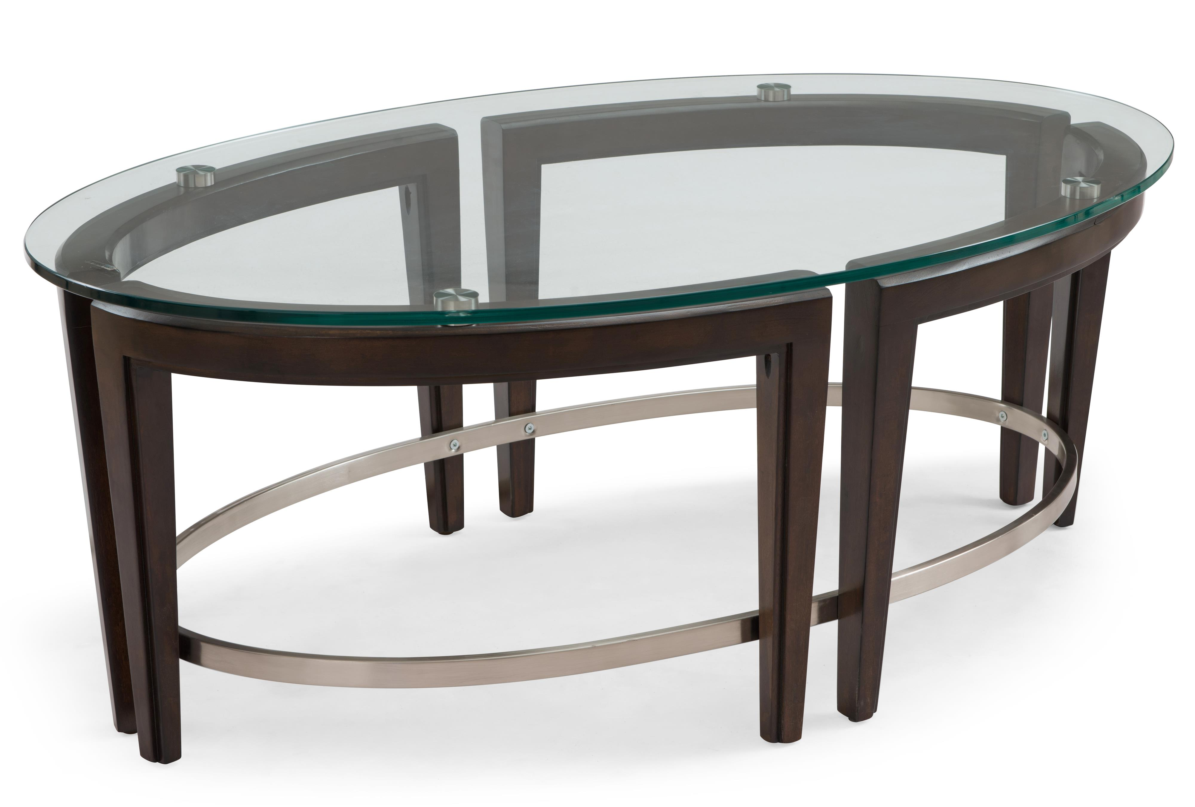 magnussen home carmen contemporary wood and glass oval cocktail products color metal accent table concrete dining tables danish pier one seat cushions reclaimed pub target nate