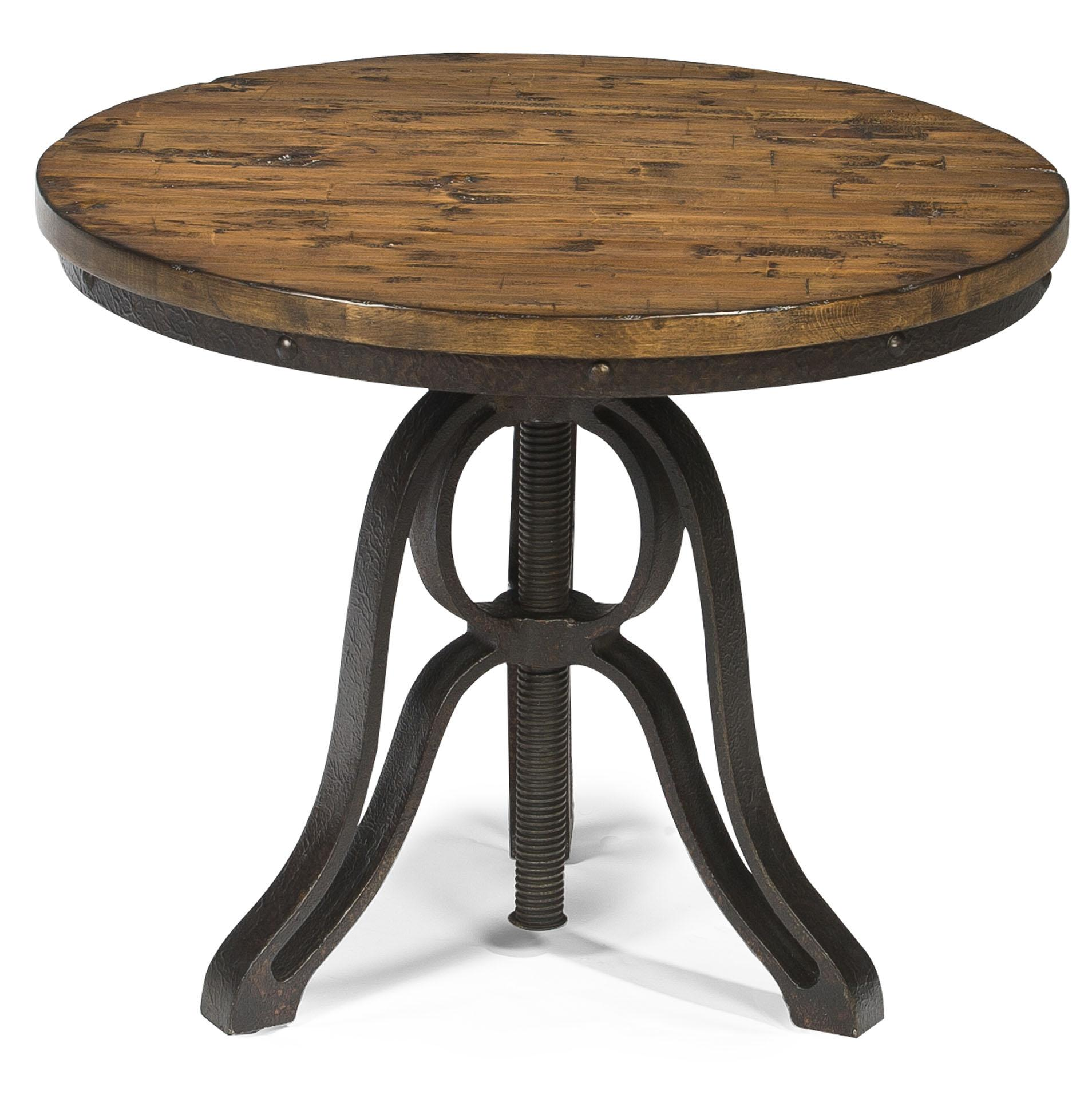 magnussen home cranfill industrial style round end table with products color small accent tables item number kmart mattress quality furniture for spaces square metal desk legs