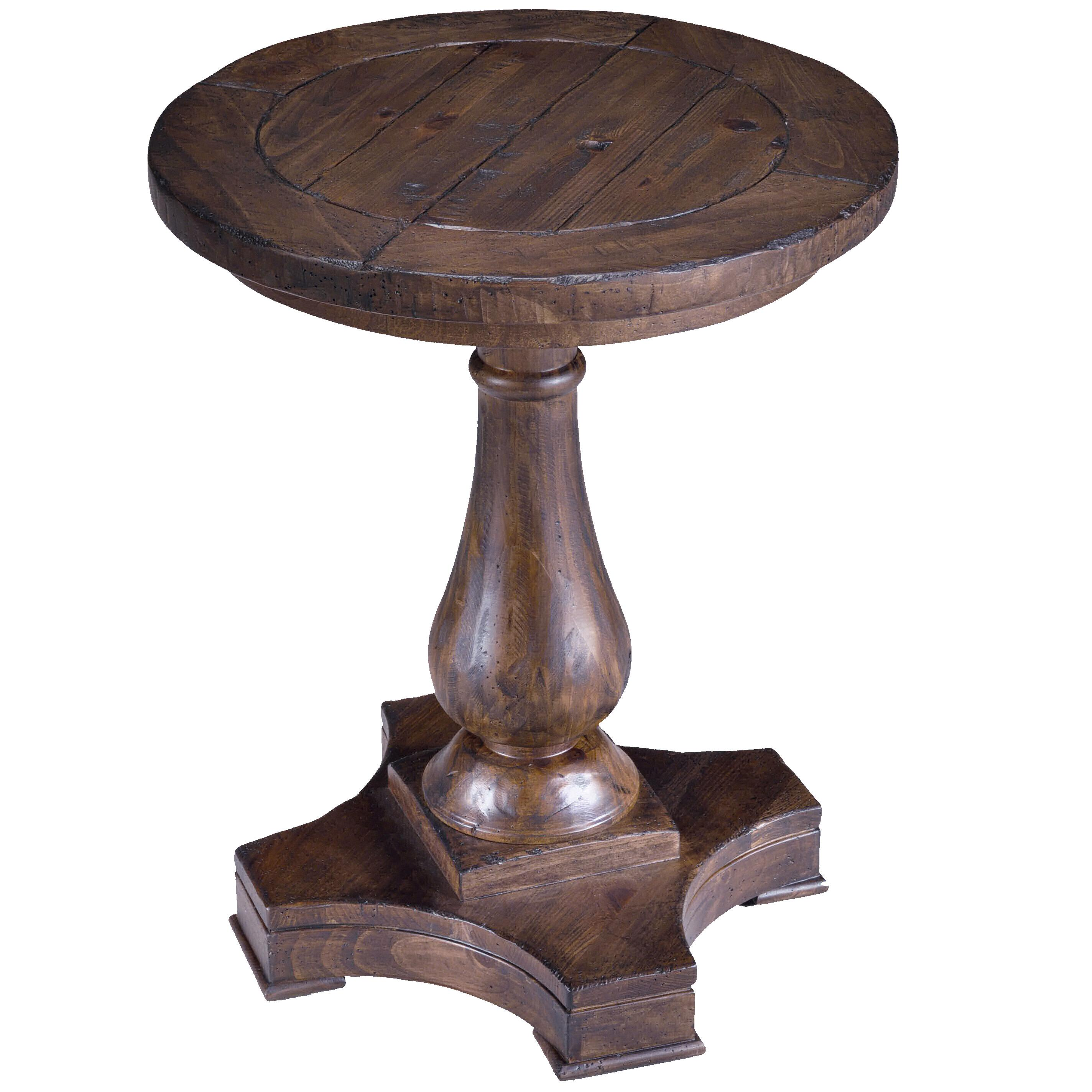 magnussen home densbury round column pedestal accent end elephant simplify table diy avenue six piece chair and set wicker patio furniture sets pier side pottery barn red console