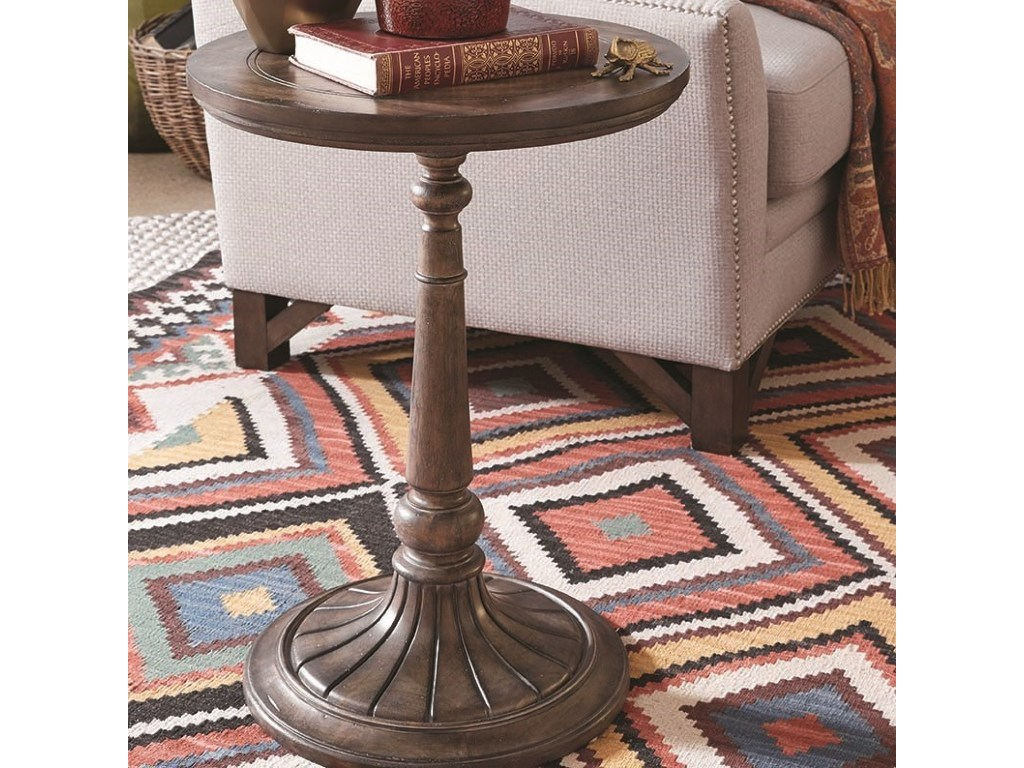 magnussen home jefferson market rustic round accent table products color gill brothers furniture end tables solid wood dining pier one calgary unique lamps oval lucite coffee oak