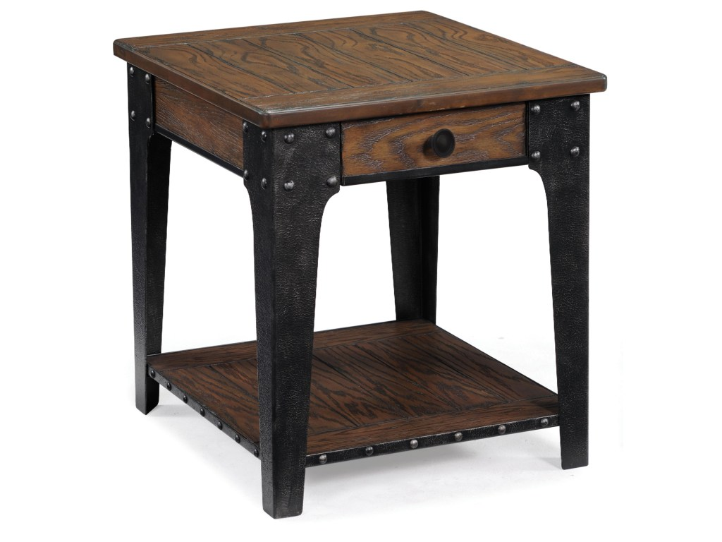 magnussen home lakehurst rectangular end table dunk products color simplify pedestal accent bright furniture adjustable small half moon console inch round linen tablecloth nesting