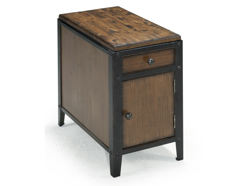 magnussen home pinebrook chairside door end table with products color round accent rustic iron legs dunk bright furniture timber lamps plus chandeliers triangle nesting tables