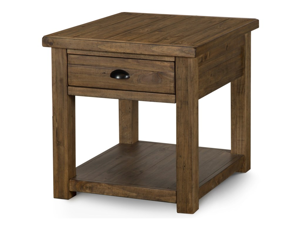 magnussen home stratton drawer rectangular end table products color wood one accent threshold warm nutmeg gill brothers furniture tables wooden garden storage box fire pit cover
