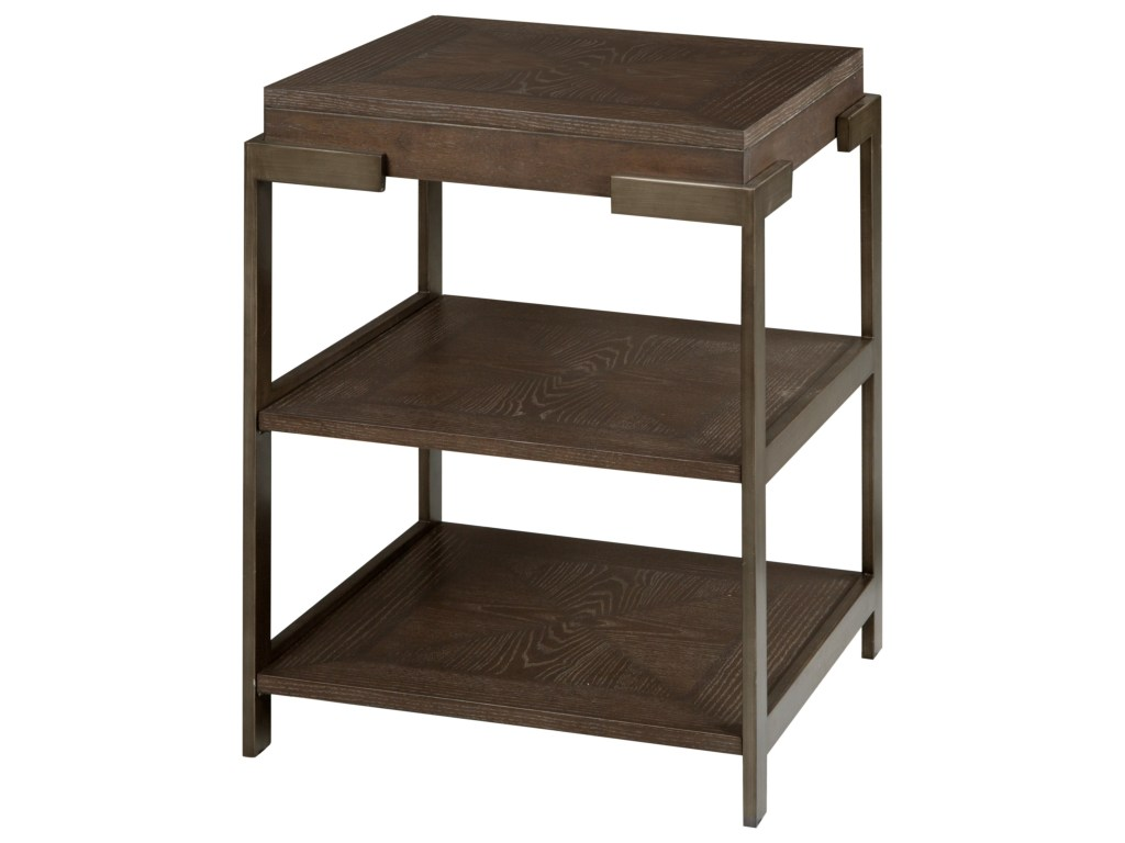 magnussen home thorton industrial square accent table with products color threshold espresso two shelves beck furniture end tables affordable patio sets meyda tiffany desk lamp
