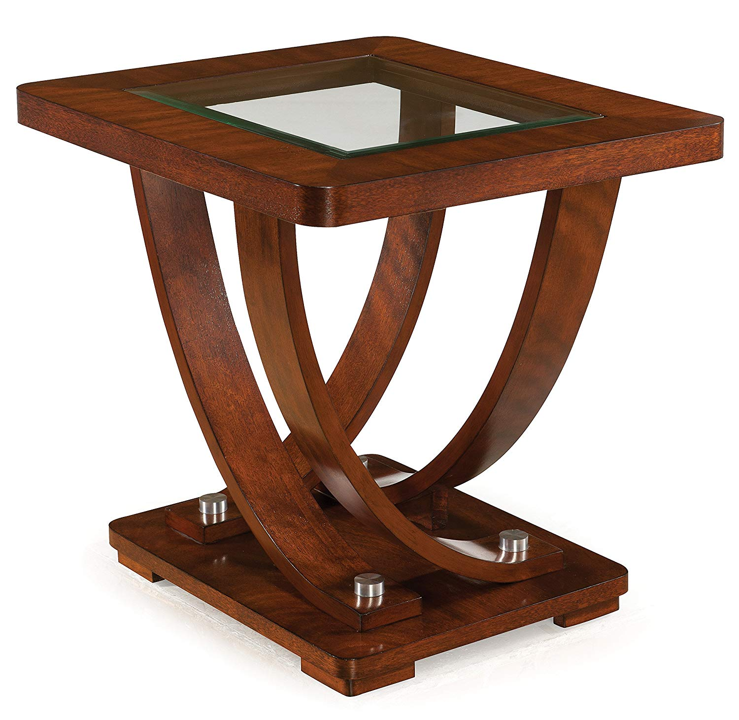 magnussen pavilion contemporary medium hawthorne glass top accent table brown rectangular end kitchen dining monarch hall console pier one rattan height tables white side for