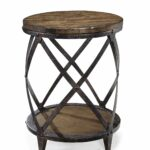 magnussen pinebrook distressed natural pine wood slab accent table round kitchen dining small garden nesting end tables living room and metal furniture ikea storage ideas battery 150x150