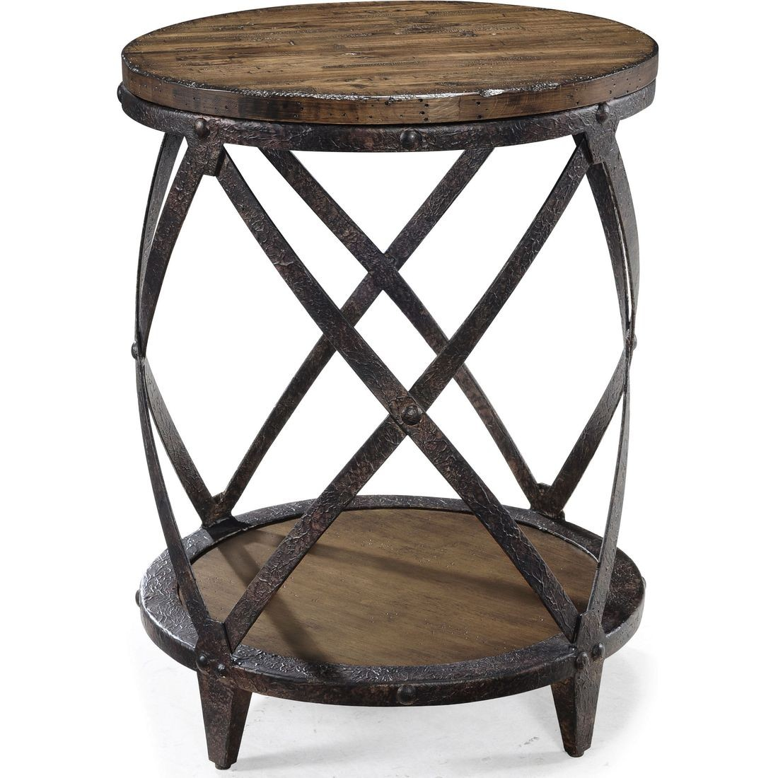 magnussen pinebrook round accent table natural pine wood custom hybrid black and gold decorations target shelf lamp inch polyester tablecloth trestle with chairs big lots dresser