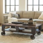 magnussen pinebrook wood rectangular coffee table with master round accent braking casters small collapsible side retro cabinet vintage couch styles grey bookshelf unique wine 150x150