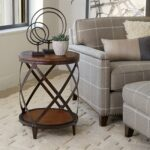 magnussen pinebrook wood round accent table garden storage bench seat timber legs two nesting tables iron coffee tall bedside with drawers contemporary lamps for living room pub 150x150
