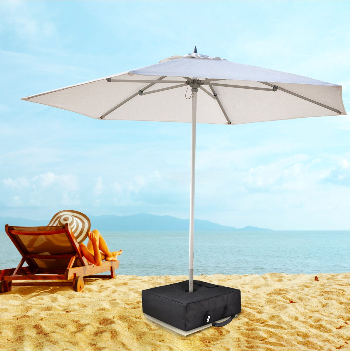 maidmax umbrella base weight bag anchor sand bags with outdoor stand side table large opening fits patio beach offset cantilever standard umbrellas square maple furniture tall