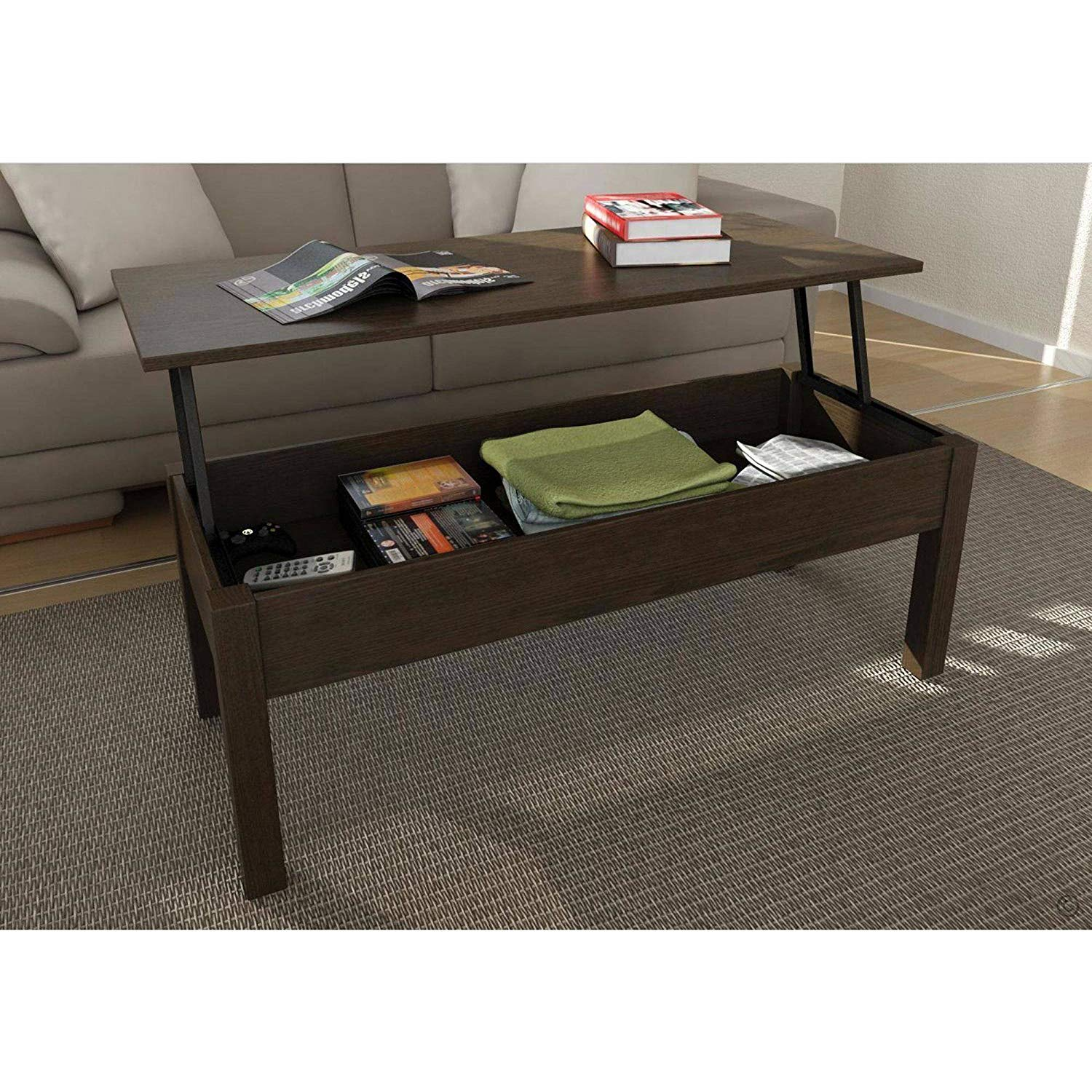 mainstay lift top coffee table brown kitchen dining mainstays accent marble grey green paint modern corner mirrored bedside cordless rechargeable lamp bbq small decorative chest