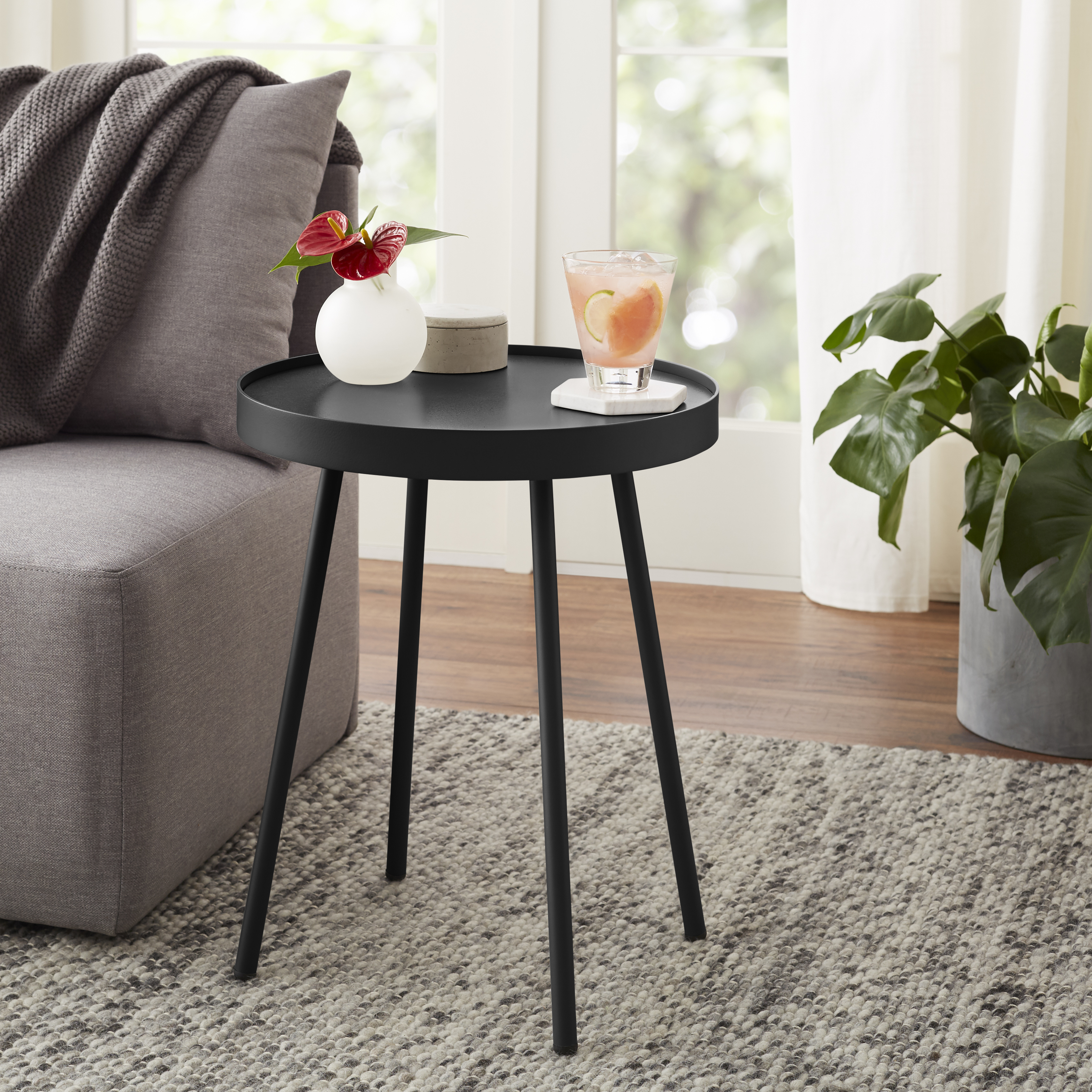 mainstays arlo round accent table multiple finishes quatrefoil side meyda tiffany lamps pool lounge chairs bunnings acrylic console wells furniture plus ozark trail tumbler