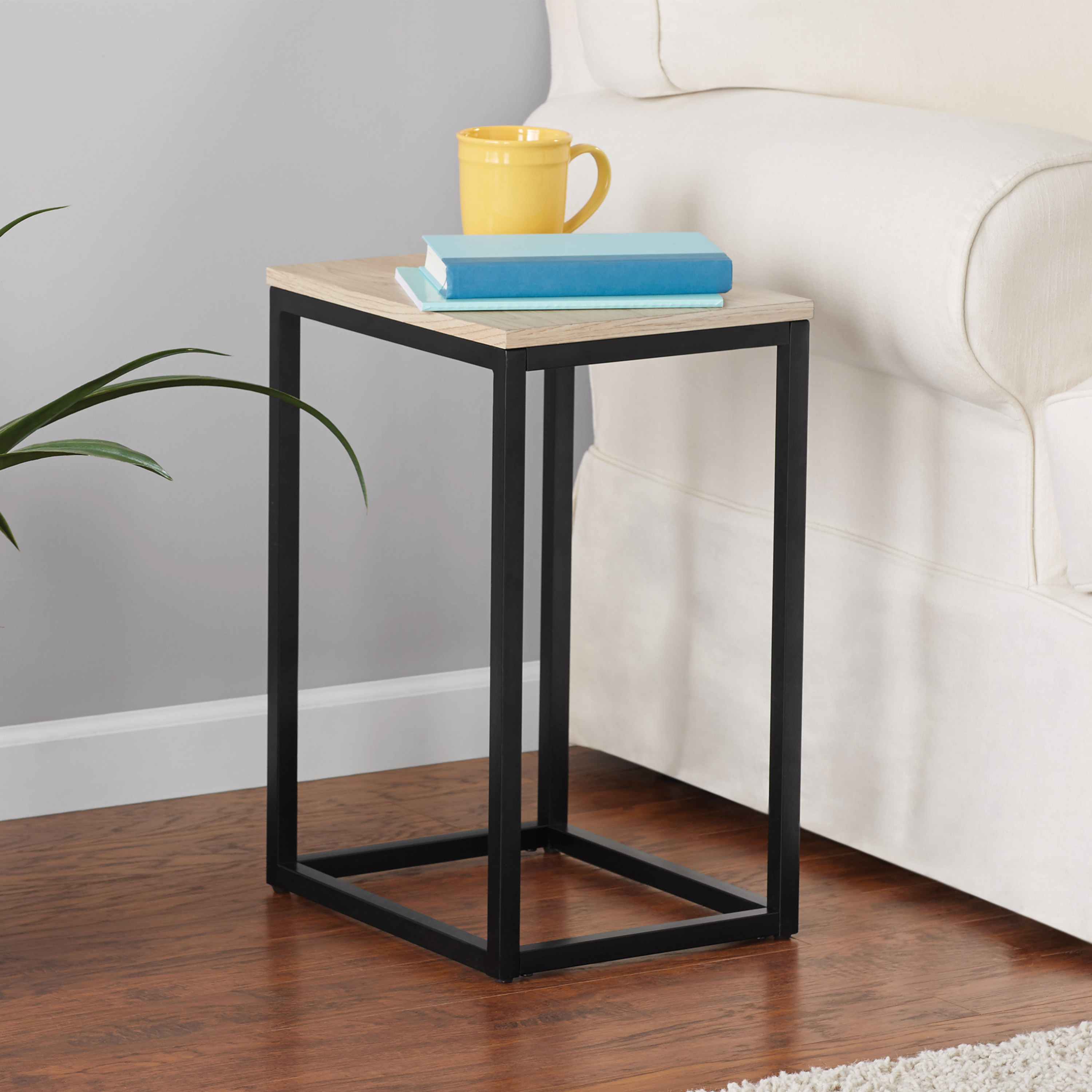 mainstays end table black marble accent round side silver small dining and chairs sofa for space living room decorative furniture legs art deco lamps solid oak tables target