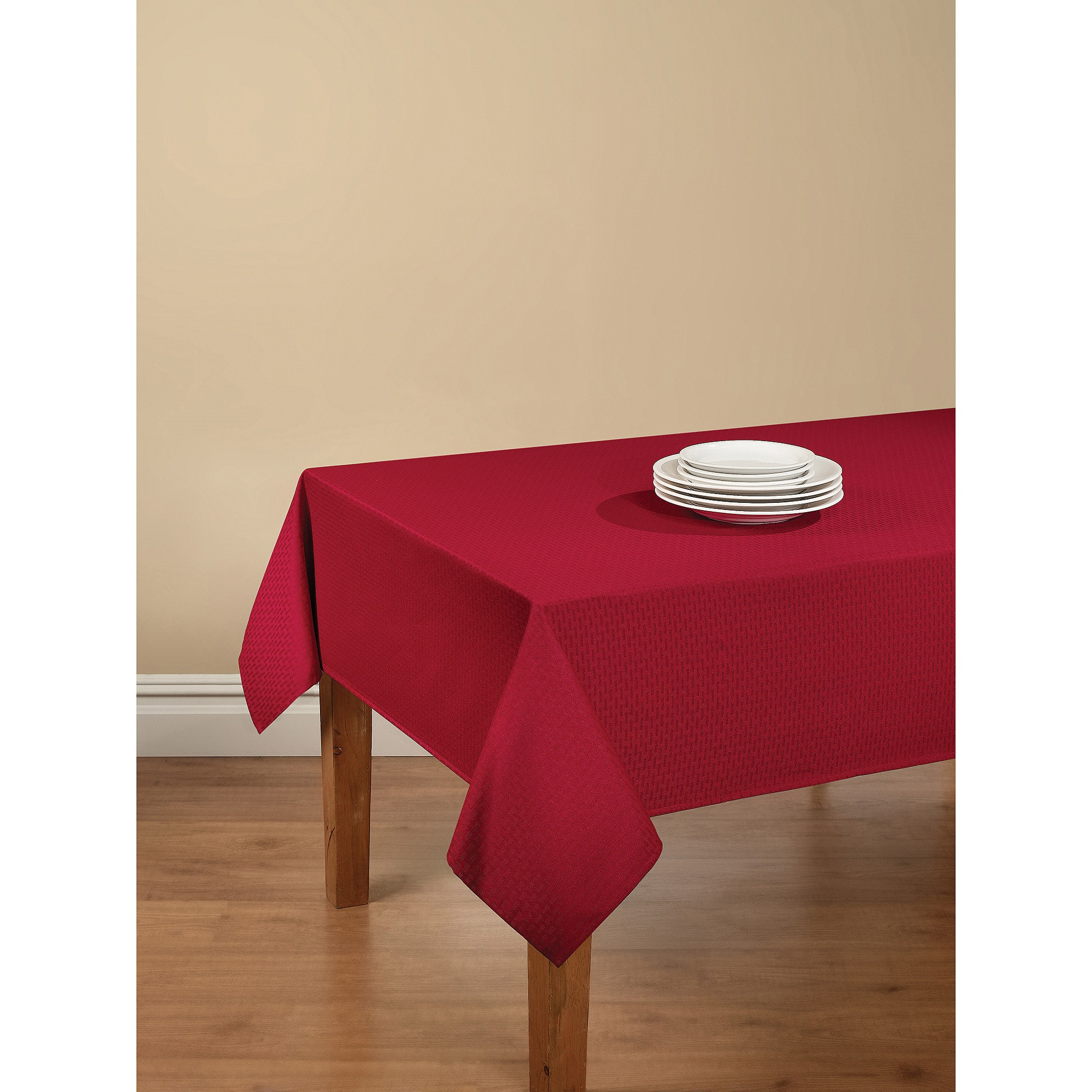 mainstays hyde fabric tablecloth red for inch round accent table pottery barn crystal floor lamp concrete top outdoor dining best furniture hammered brass side fall runner