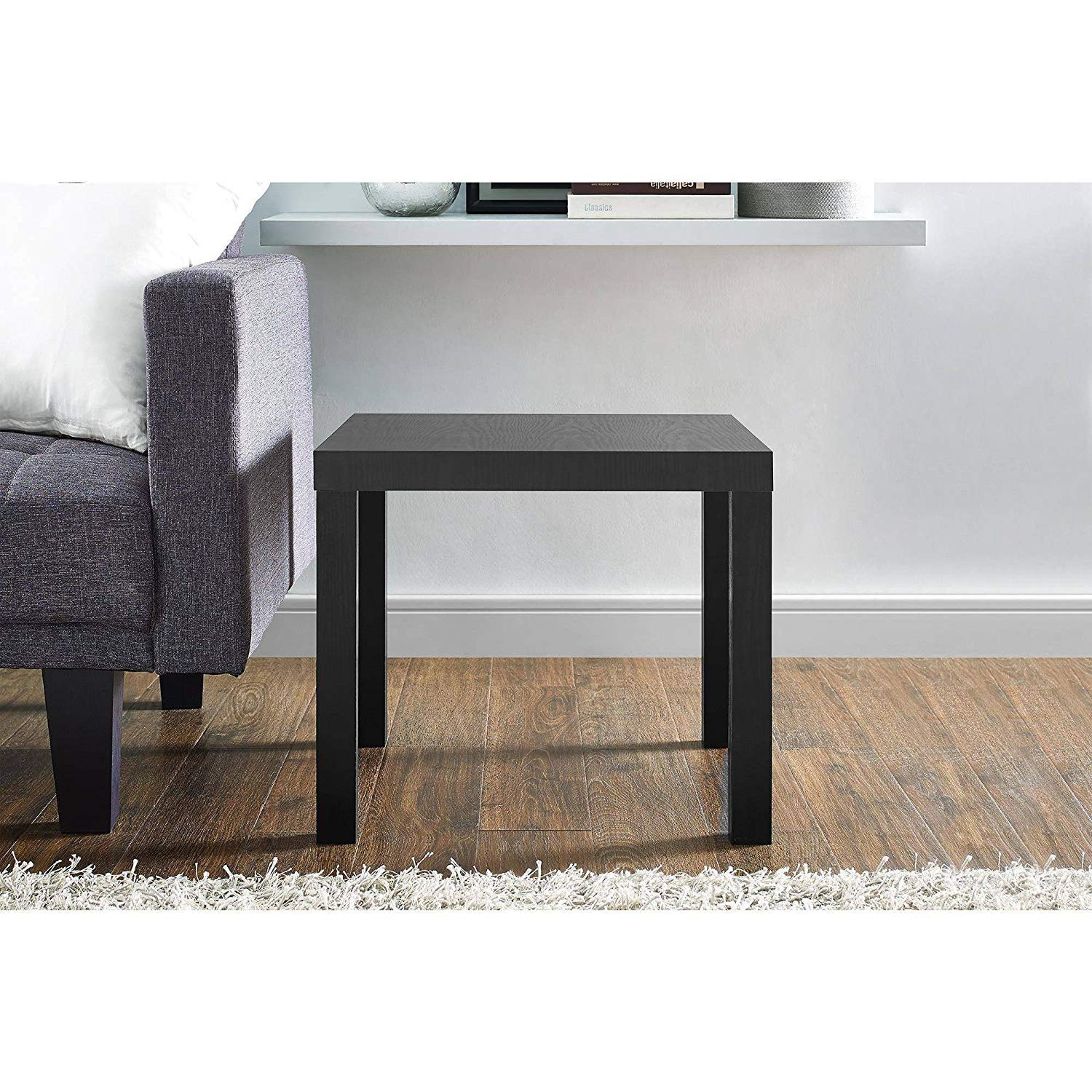 mainstays parsons end table multiple colors black accent marble kitchen dining coffee with wheels ikea solid oak tables room chairs keter drinks cooler seats grey mirrored bedside