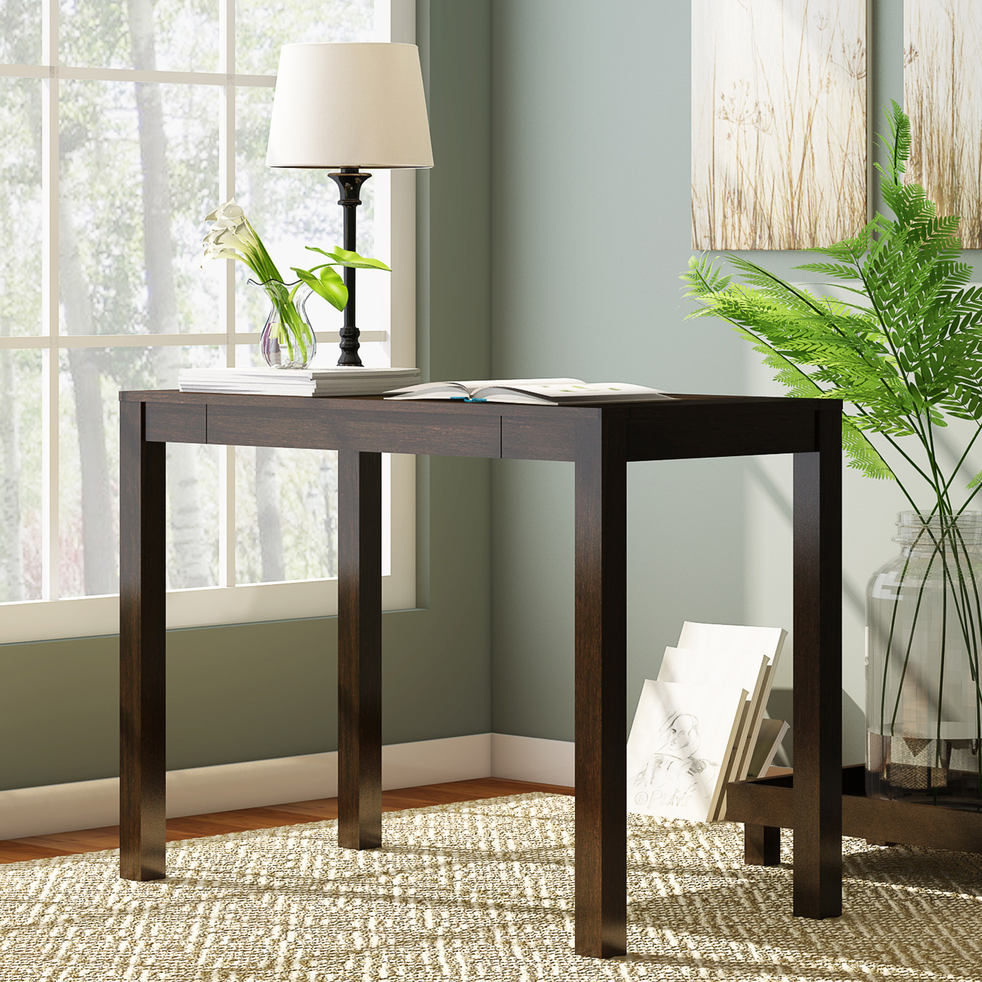 mainstays parsons end table with drawer multiple colors writing desk storage one diy legs unique glass top coffee tables asian inspired dark wood stain home filing cabinet skinny