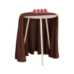 mainstays round decorative table accent with screw legs gresham furniture pottery barn black dining patio side clearance couches under nautical end tables counter height set oak 150x150