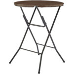 mainstays round high top folding table walnut accent marble rechargeable battery powered lamps side silver black lamp keter drinks cooler west elm entryway best patio umbrella 150x150