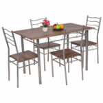mainstays round high top folding table walnut accent monarch cappuccino marble bronze metal large cover outside lawn chairs console desk tiffany pond lily lamp farm trestle base 150x150