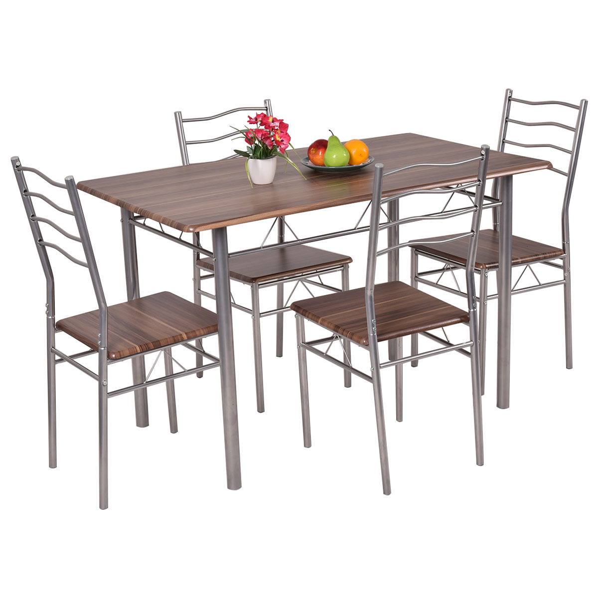 mainstays round high top folding table walnut accent monarch cappuccino marble bronze metal large cover outside lawn chairs console desk tiffany pond lily lamp farm trestle base