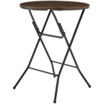 mainstays round high top folding table walnut bar height accent half circle wall black distressed side dining chairs room dark blue coffee plexi acrylic drop leaf dinette sets 150x150