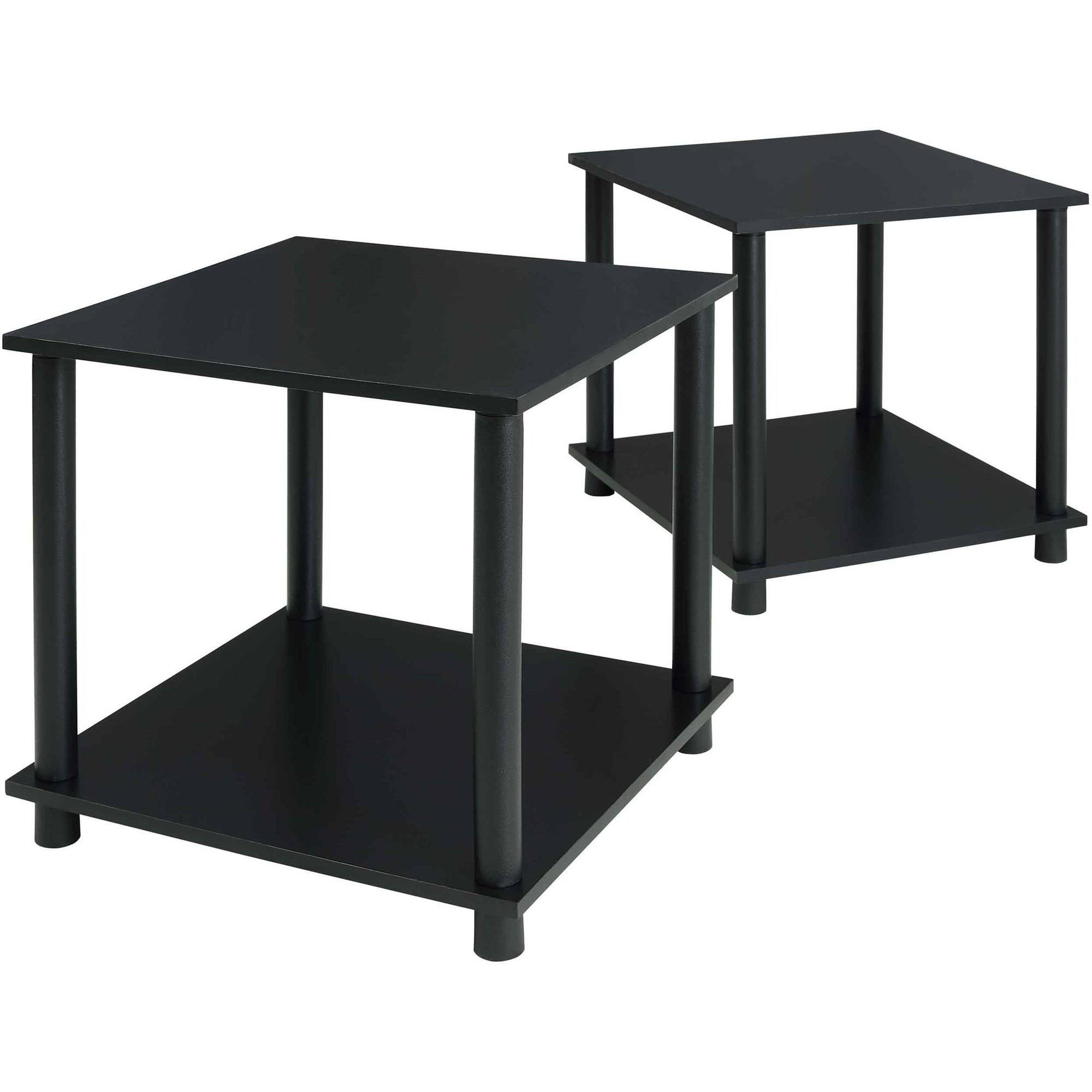 mainstays tools pack end table solid black storage accent room essentials bedside dresser furniture toronto wide carpet transition strip big lots tables target skinny console ikea