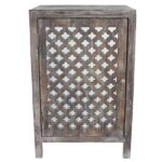 maison rouge anatole distressed grey quatrefoil end table with wood accent mirror free shipping orders over winsome timmy old oak side ikea childrens storage solutions inch 150x150