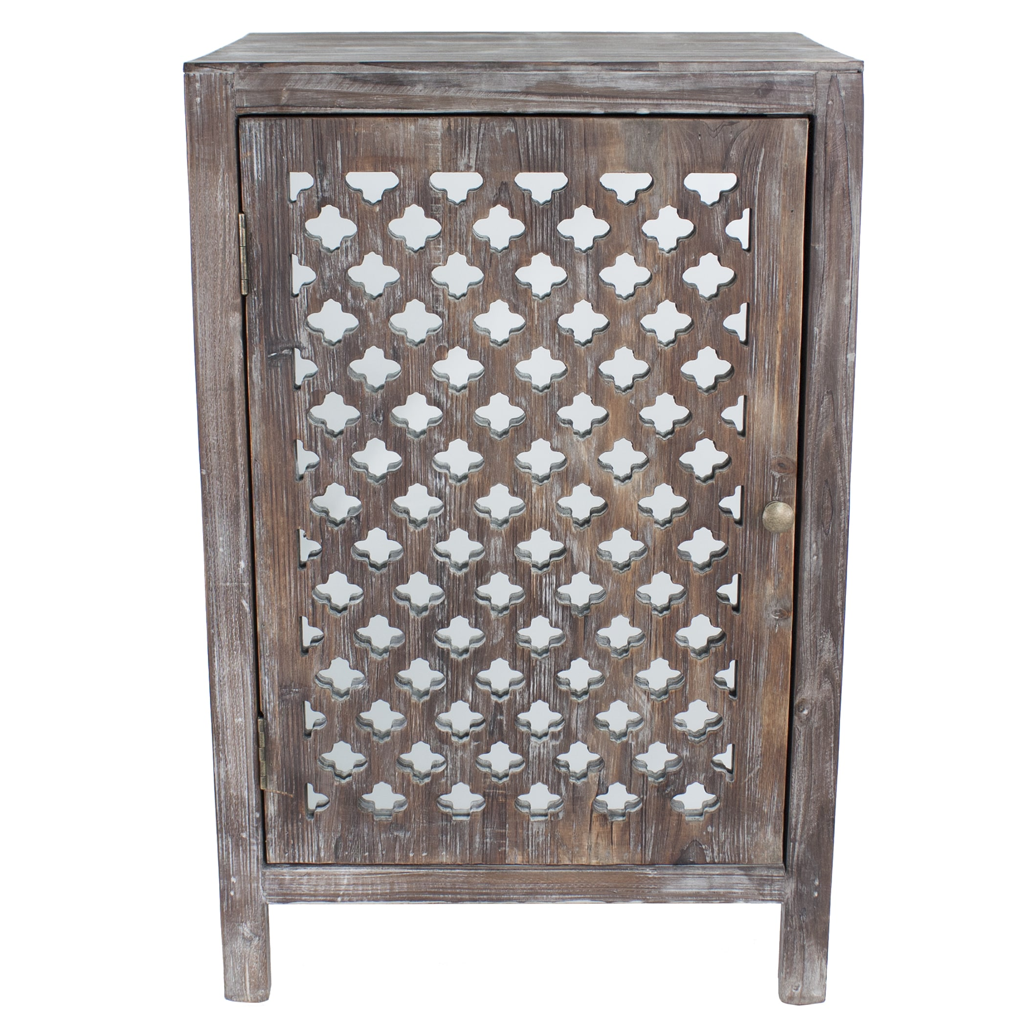 maison rouge anatole distressed grey quatrefoil end table with wood accent mirror free shipping orders over winsome timmy old oak side ikea childrens storage solutions inch