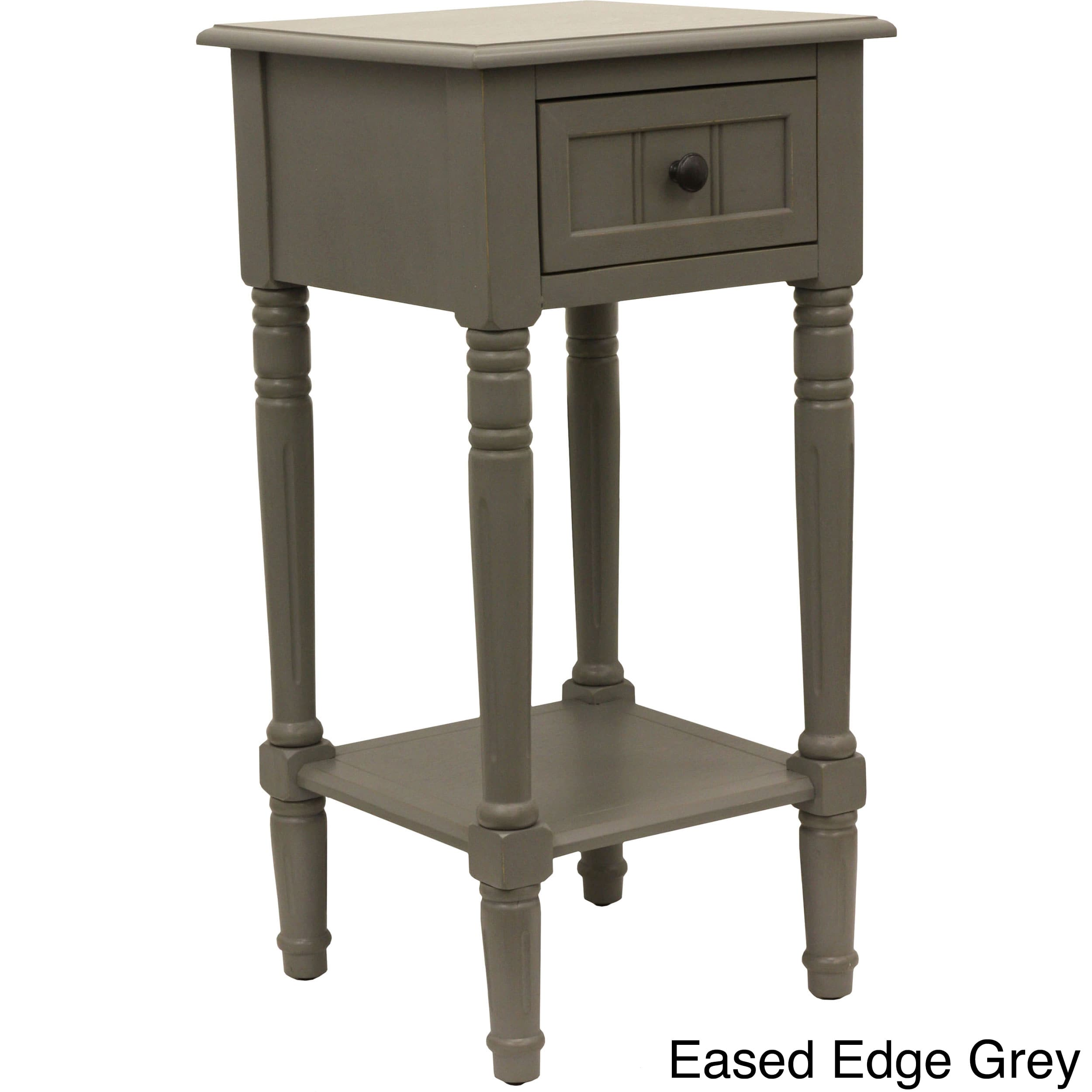 maison rouge provins one drawer square accent table antique white grey decoration pieces for drawing room small outdoor patio off end tables bedside unit black and lamp portable
