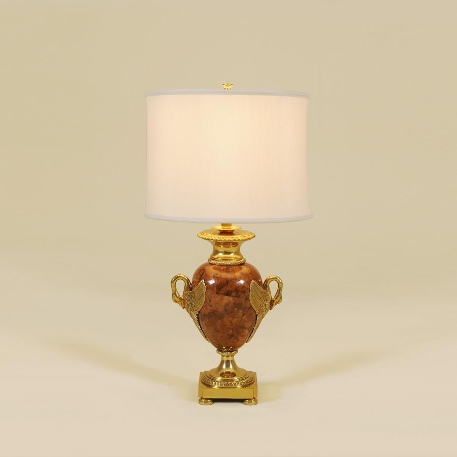 maitland smith penshell inlaid table lamp decorative amber brass accent lamps accents silk shade mid century kitchen chairs modern patio furniture clearance small black counter