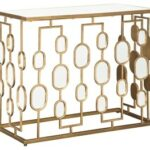 majaci gold finish console table consoles sadtk accent tablecloth marble top coffee west elm unique entryway tables metal end base rose side round covers patio swing door 150x150