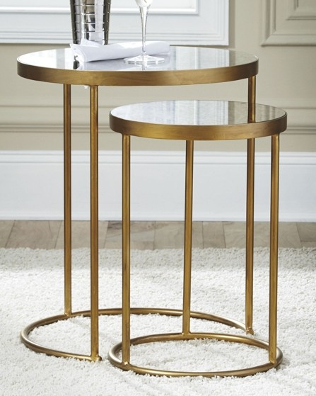 majaci gold finish white accent table set finishwhite end ginger jar lamps glass bedside drawers stools bunnings reclaimed wood coffee round mirrored kids writing desk with power