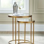 majaci gold finish white accent table set finishwhite mirrored cube side kitchen chairs imitation furniture floor threshold transitions metal tall skinny inch round house lights 150x150