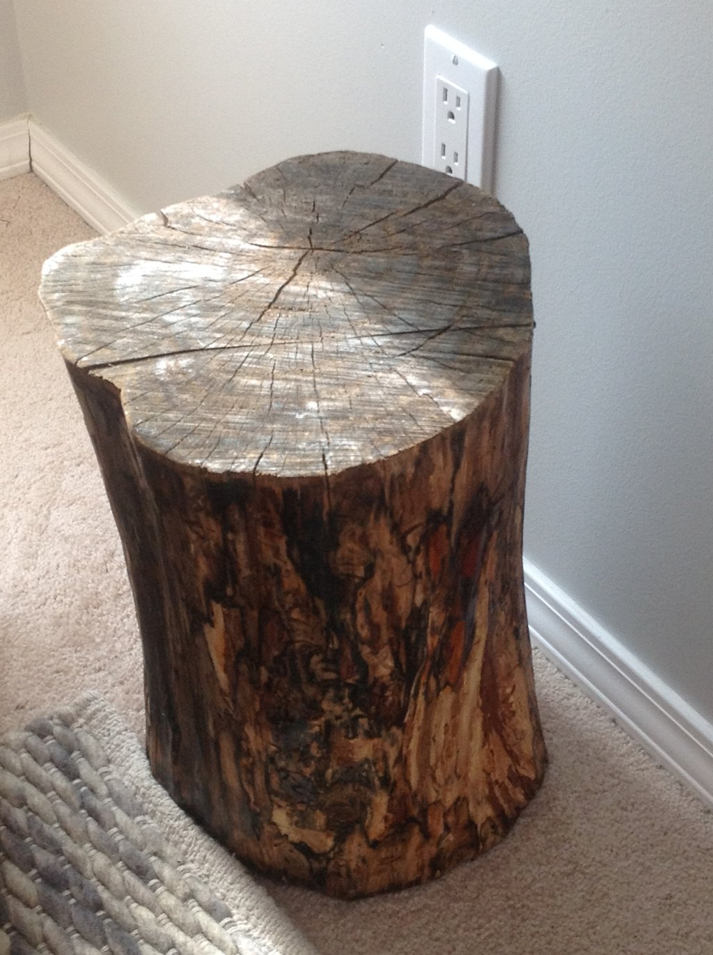 making tree stump coffee table loccie better homes gardens ideas nursery diy side frugal freedom trunk accent distressed furniture bar height and stools kitchen napkins patio