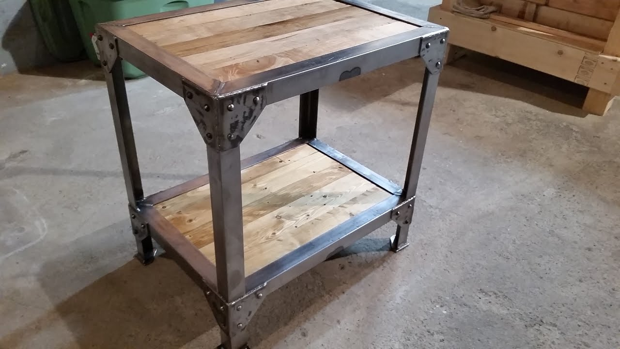 making wood and metal side table end tables modern farmhouse accent painted coffee linen company frog rain drum half console adjustable lamp antique legs sauder dresser threshold