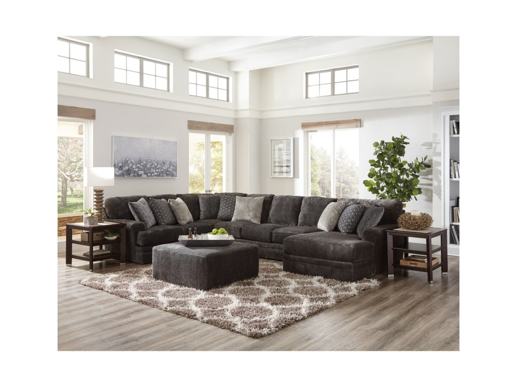 mammoth three piece sectional sofa with chaise ruby gordon home products jackson furniture color harrietta accent table set sofas small wooden occasional tables smoked glass