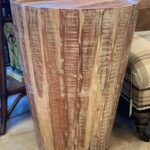 mango cool accent table made exotic wood the conical drum shaped shape and unusual texture make this perfect compliment coastal west target yellow side elm parsons coffee light 150x150