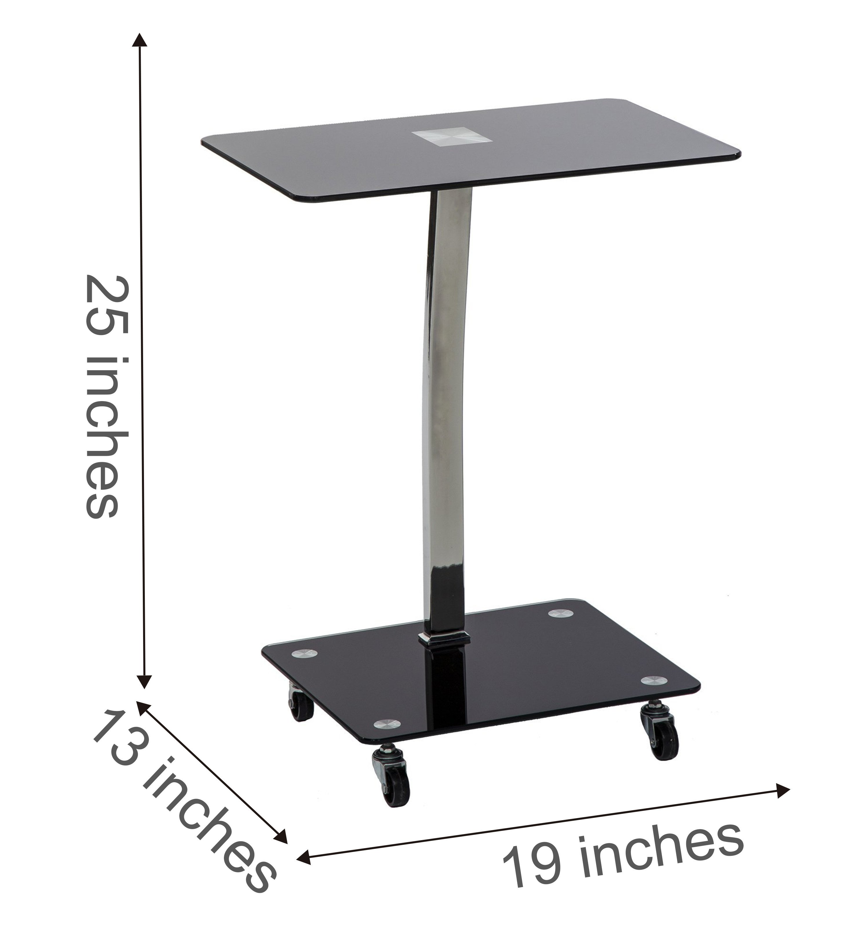 mango steam alameda portable wheeled tempered glass laptop desk accent untitled table with wheels black and chrome elm console kitchen remodel small white entry round nest tables