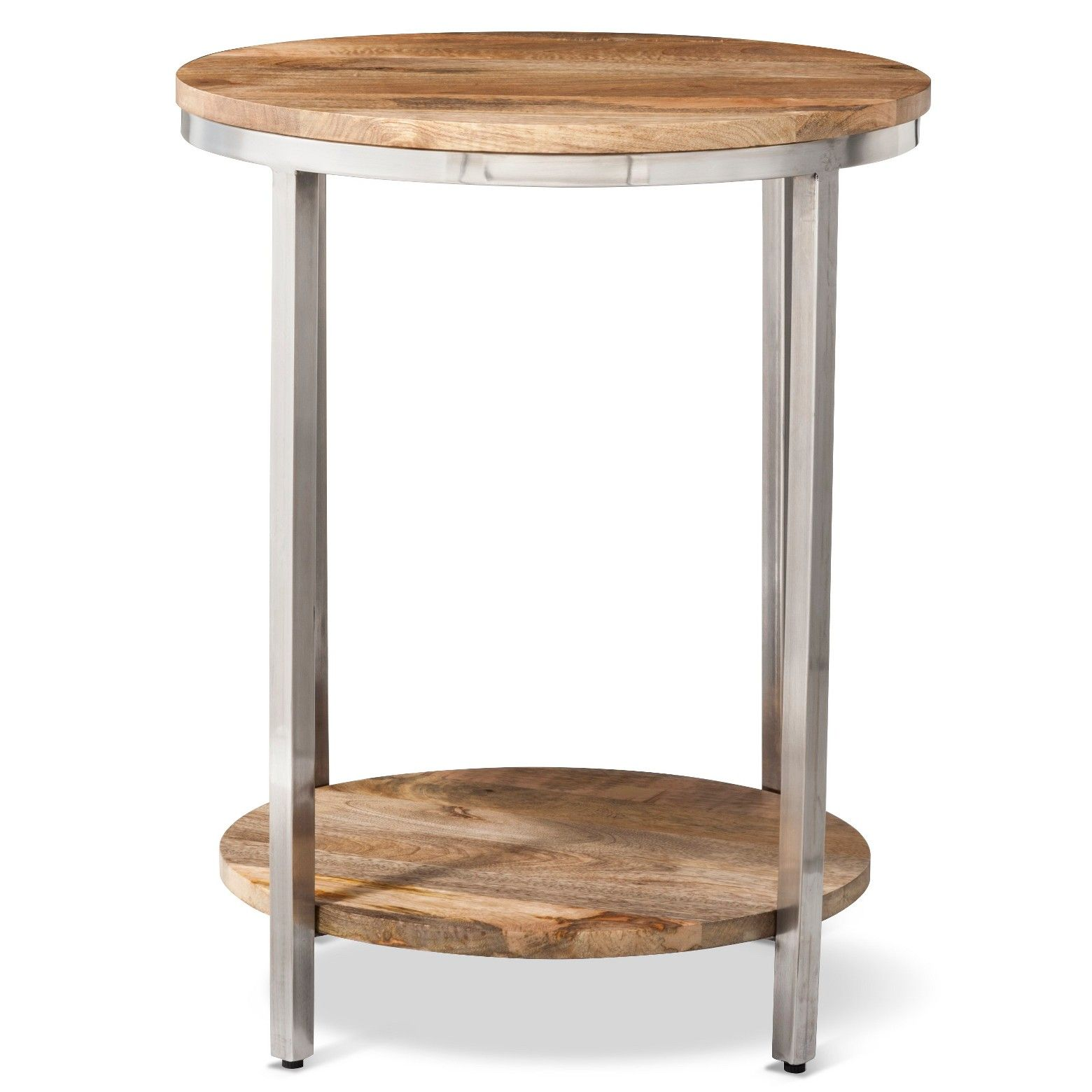 mango wood accent table the terrific awesome berwyn end large round metal and threshold rustic brown mid century modern coffee set wireless phone charger tartan paper tablecloths