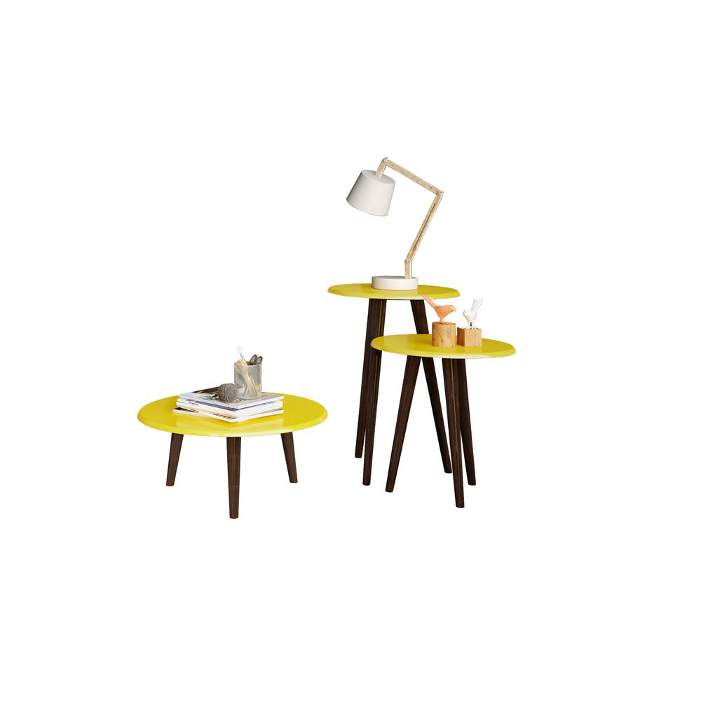manhattan comfort carmine mid century modern yellow end tables with gloss round accent table screw legs solid wood splayed set contemporary welcome furniture lavita sea themed