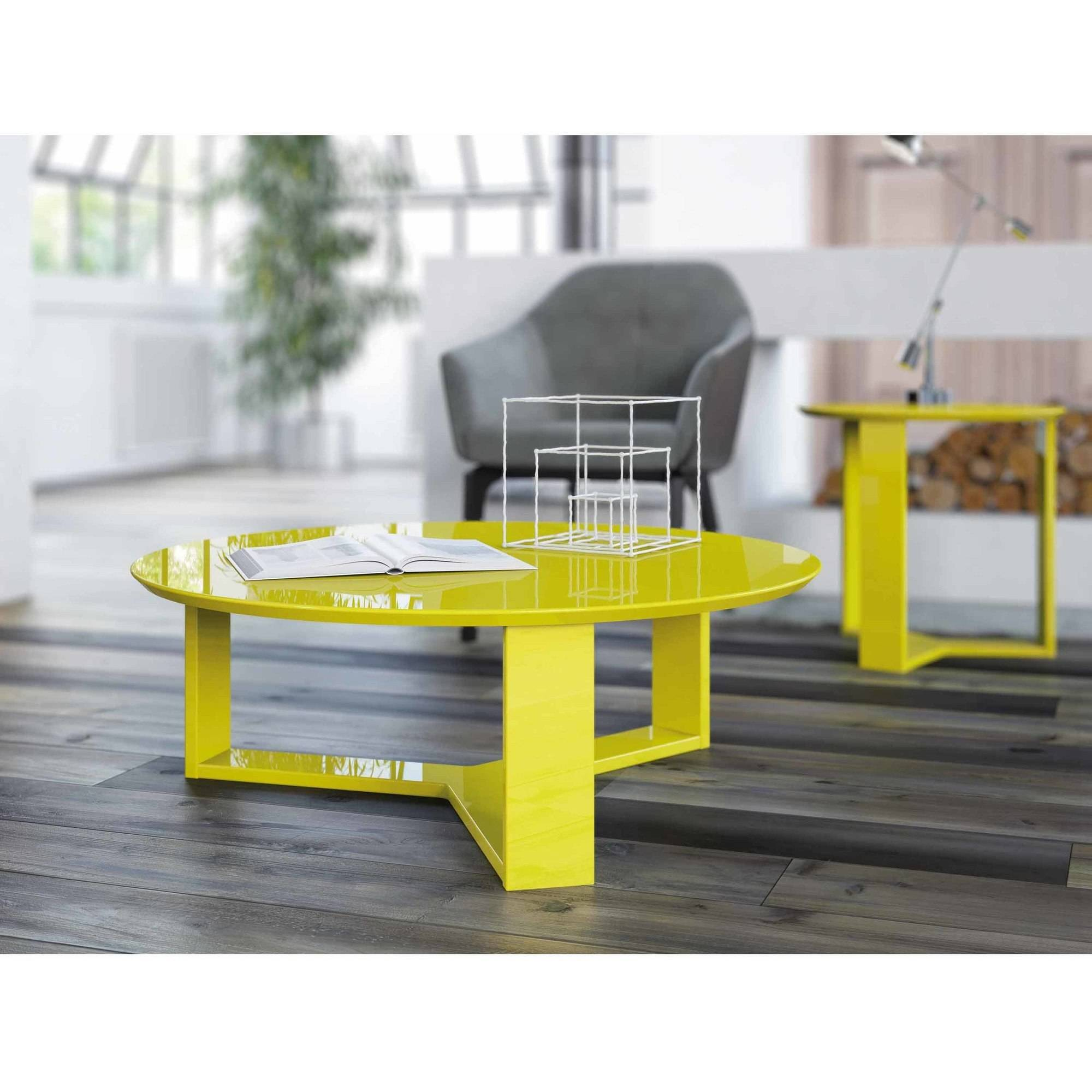 manhattan comfort madison round accent coffee table lime yellow gloss black lamps for bedroom dining room furniture edmonton unusual occasional tables wood bunnings storage