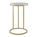 manor park modern round end table white marble top gold base accent nursery small bedside lamps target office furniture barnwood kitchen oak dining set pottery barn high bar 150x150