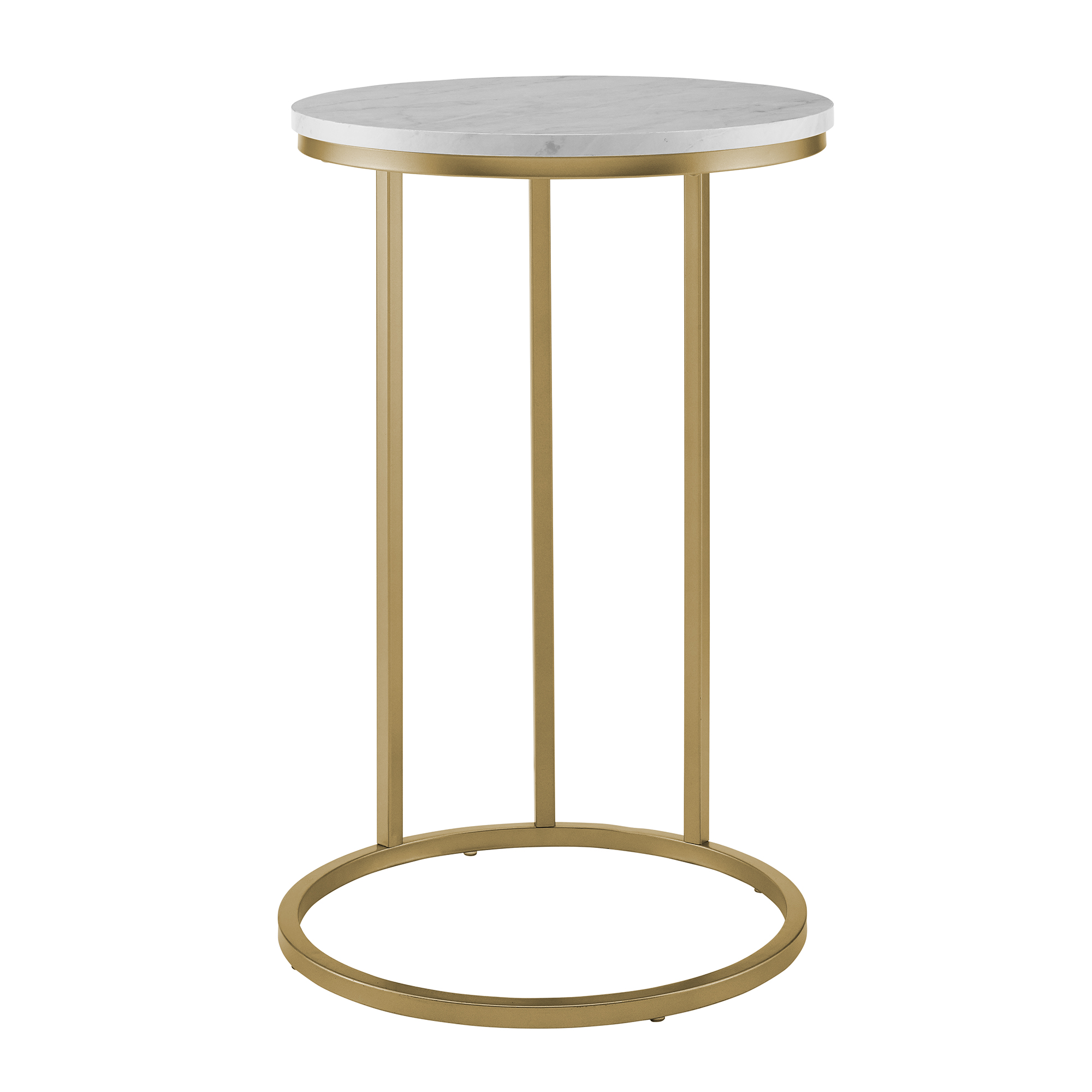 manor park modern round end table white marble top gold base accent nursery small bedside lamps target office furniture barnwood kitchen oak dining set pottery barn high bar