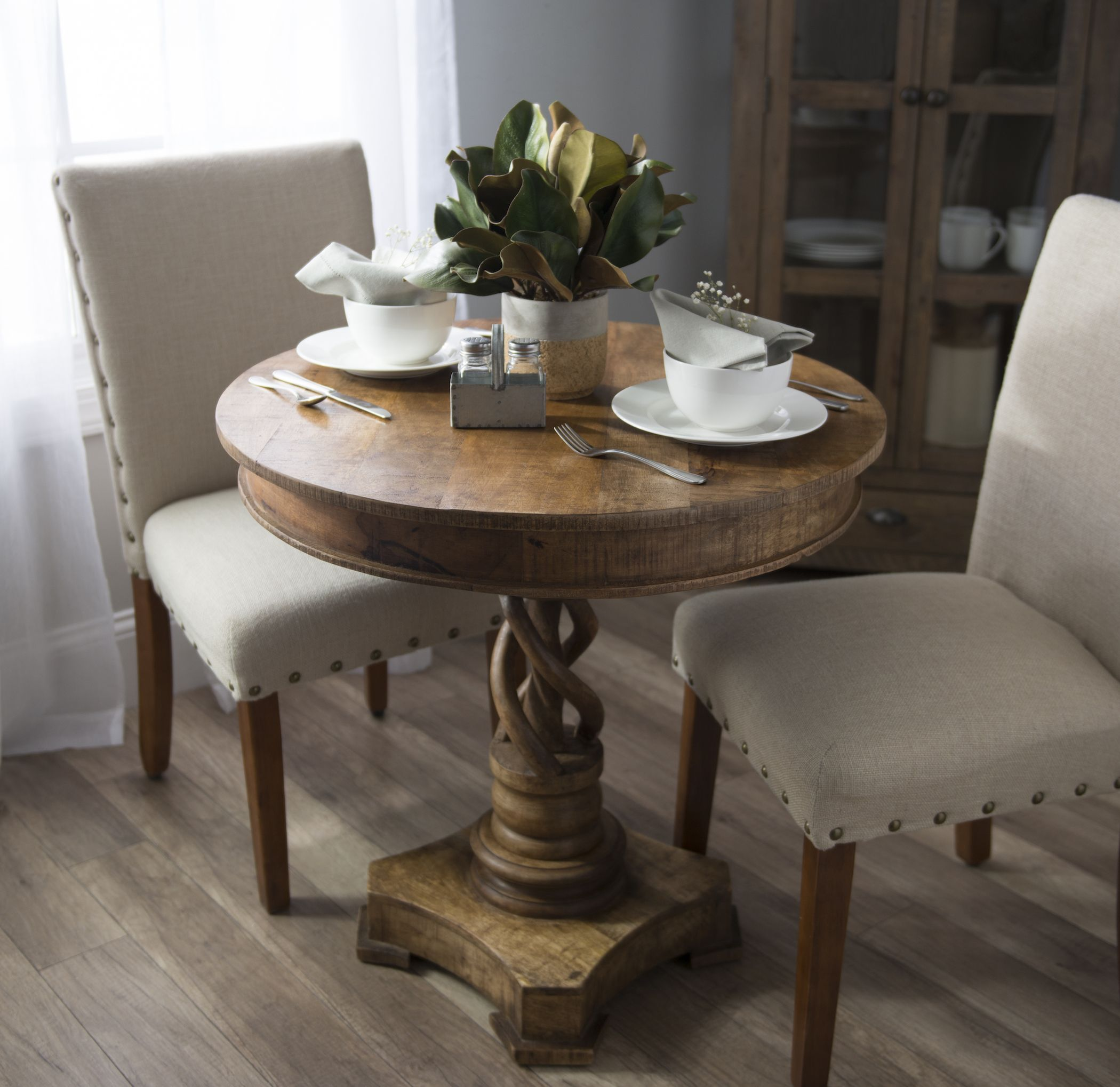 many pretty patterns and tantalizing textures vintage charm twisted mango wood accent table our provides traditional style with literal twist you love the way its natural finish
