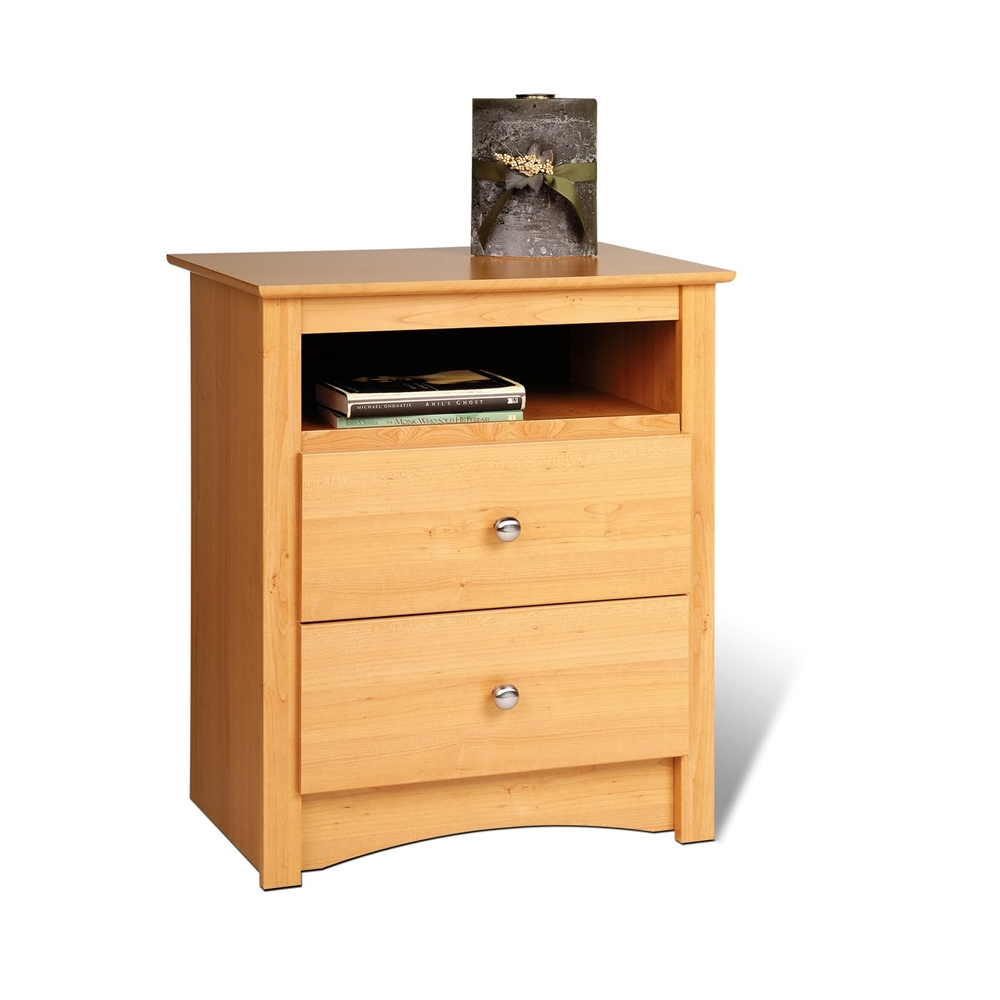 maple sonoma tall drawer nightstand with open shelf mdc main prepac accent table white ikea box little outdoor drop leaf set elm farmhouse dining and bench small tiffany style