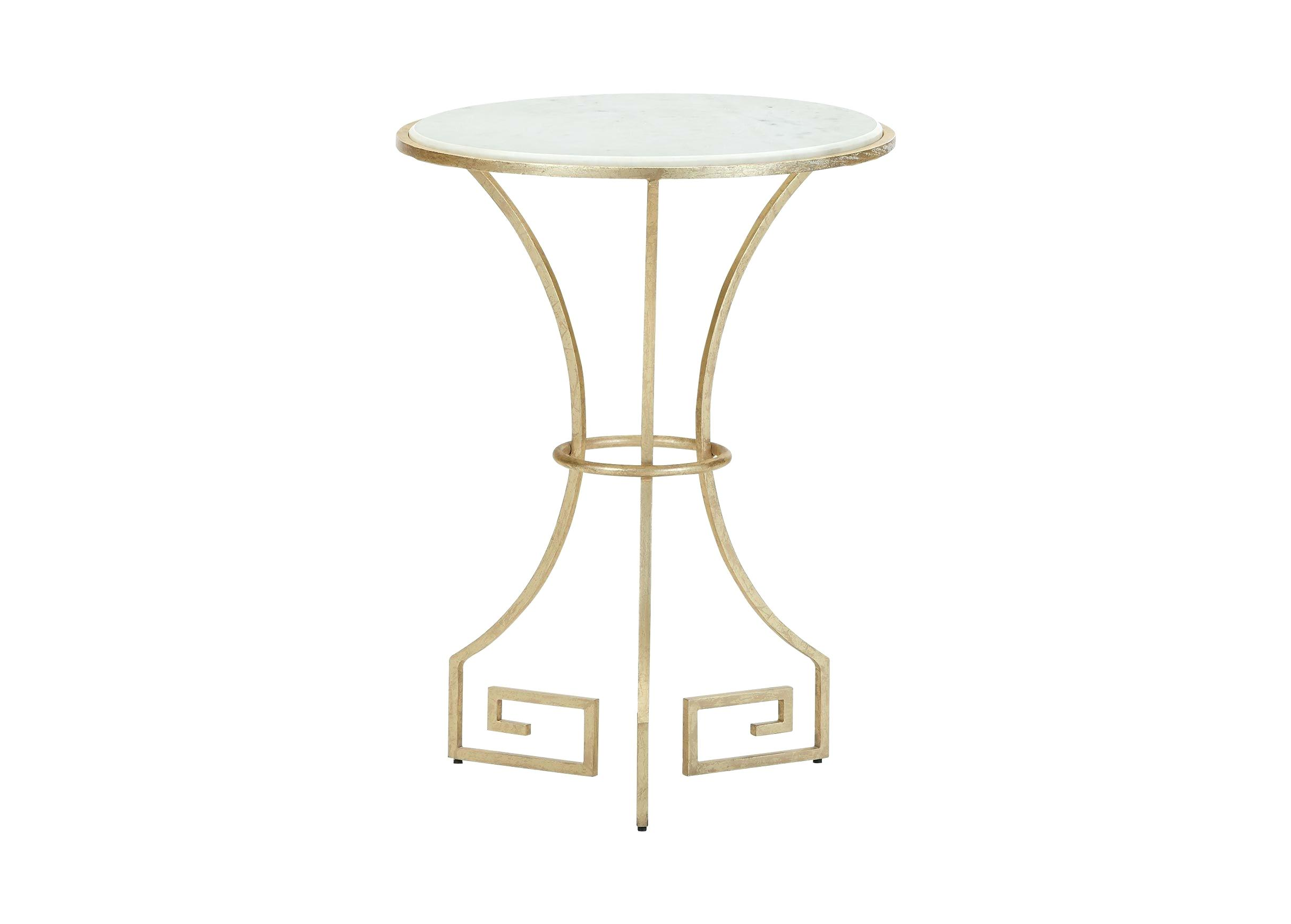 marble accent table gold round white and metal pedestal living modern oriental all qvc furniture quilted placemats dining tables toronto chairs oak drop leaf rustic end hardwood