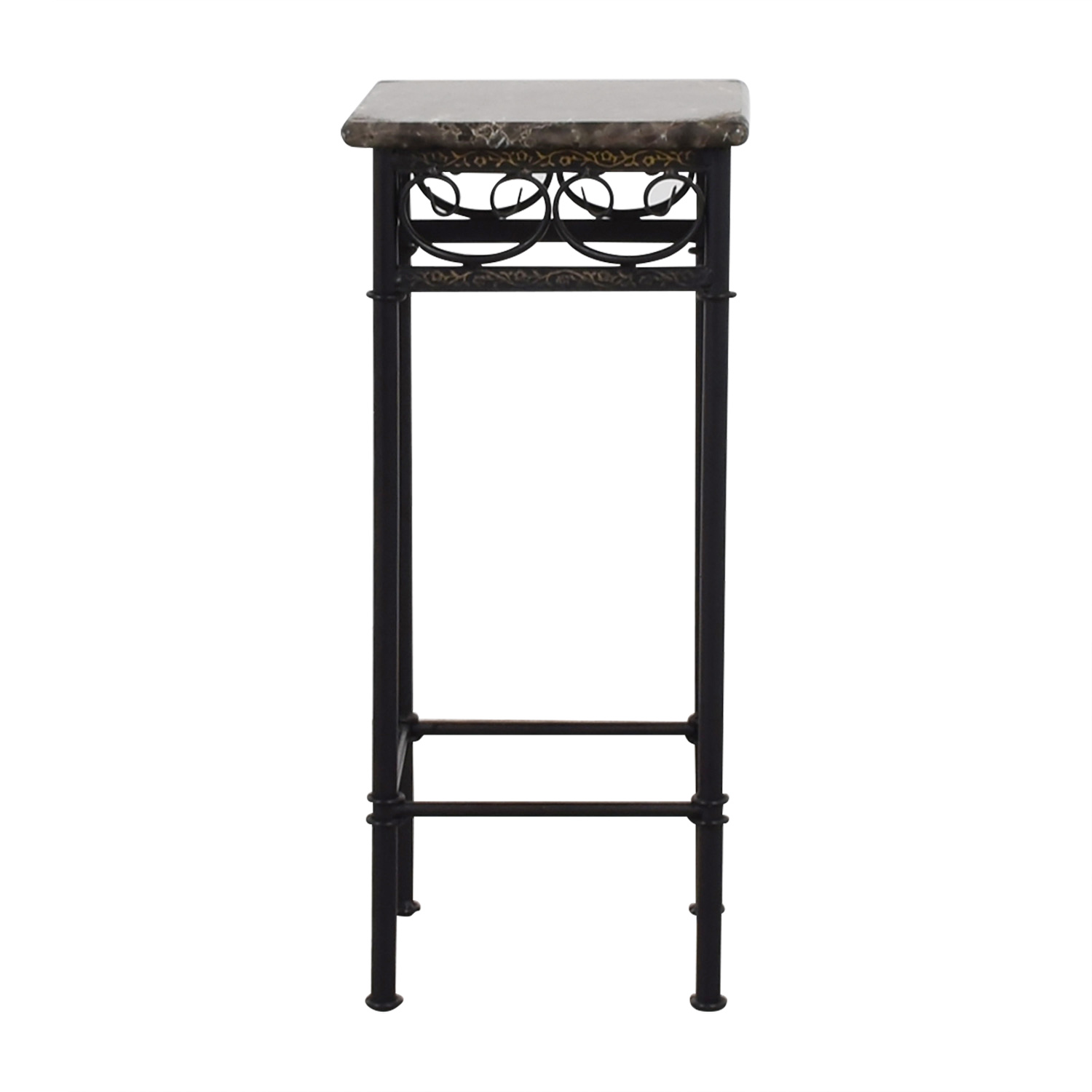marble accent table limetennis faux with black metal base signy drum tables patio chair cushions winsome nightstand espresso ethan allen end drawer ballard designs stools small