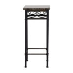 marble accent table limetennis faux with black metal base signy drum top tables counter height console keter cool bar office wall clock round removable legs chairside end drawer 150x150