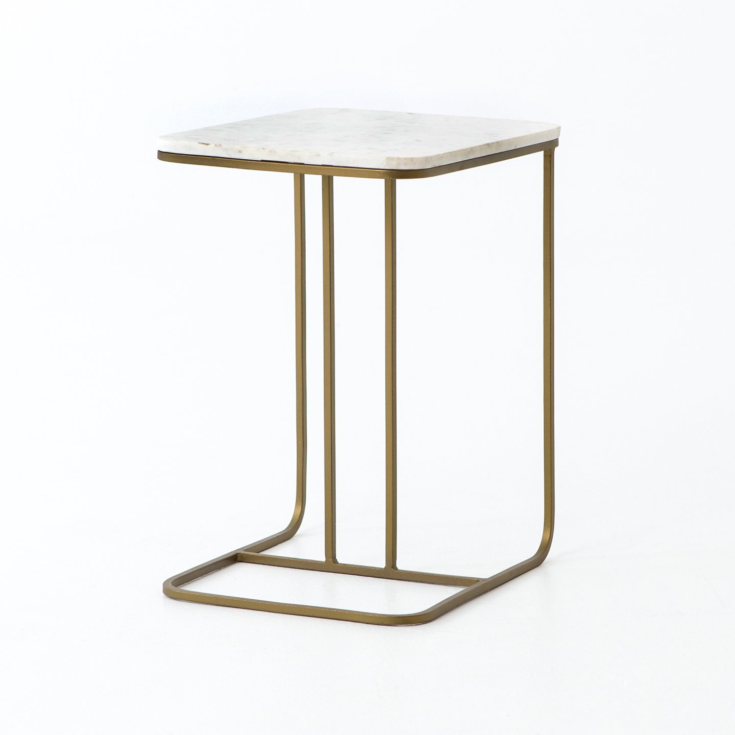 marble accent table limetennis four hands adalley polished white side gold signy drum with top brass lamp sets antique rectangular blue and striped patio umbrella purple tiffany